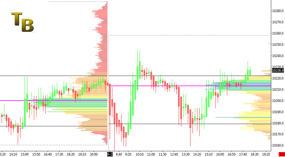 Volume Profile Trading Range