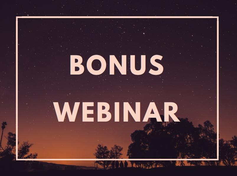 Webinar Bonus