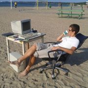 Trading in spiaggia