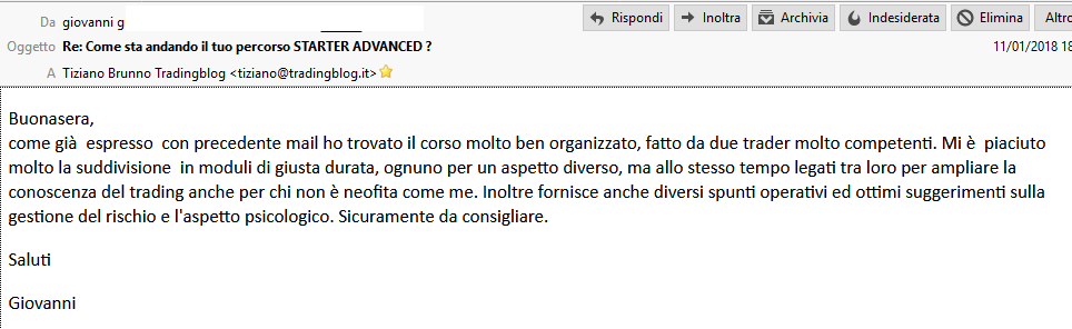 Recensione Starter Advanced